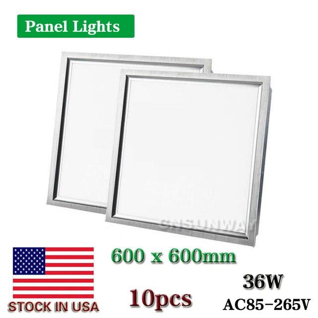 CNSUNWAY LED panel light square lampada2x2 ft 600x600mm 36W high bright indoor 10pcs