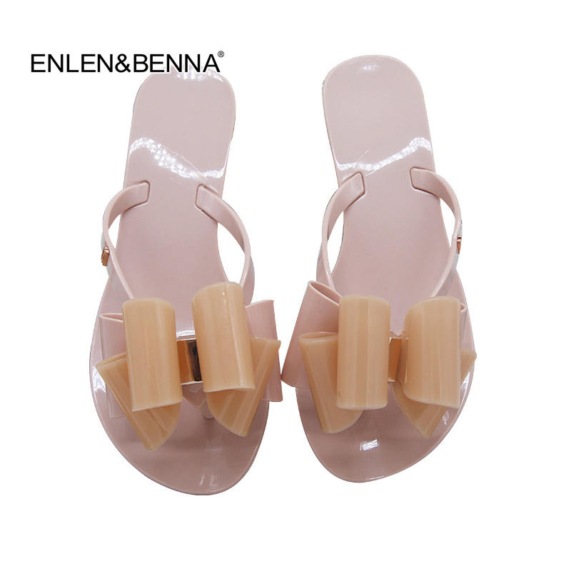 fbff689c2e0415 Detail Feedback Questions about Hot 2018 Fashion Woman Flip Flops Summer  Shoes Cool Beach big bow flat sandals Soft Brand jelly shoes sandals girls  size 36 ...