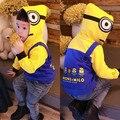 Kikikids crianças Boys & Girls algodão Minions e Beedo Milo padrão amarelo hoodies, Crianças roupa da criança meninos Hoodies