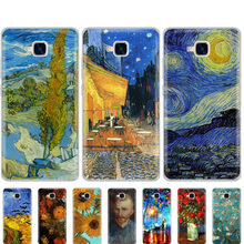 case for Huawei Honor 5C Case Silicone russian Version Back Cover for Honor 5C Without Fingerprint Hole Van Gogh oil painting(China)