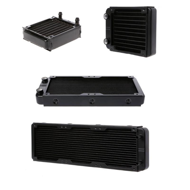 все цены на 360/240/120/80mm Aluminum Computer Radiator Water Cooler 18 Tube CPU Heat Sink Exchanger онлайн