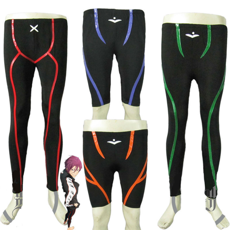 Free Iwatobi Swim Club Cosplay Costume Unisex Short Pant Swimsuit Custom Made Free Shipping