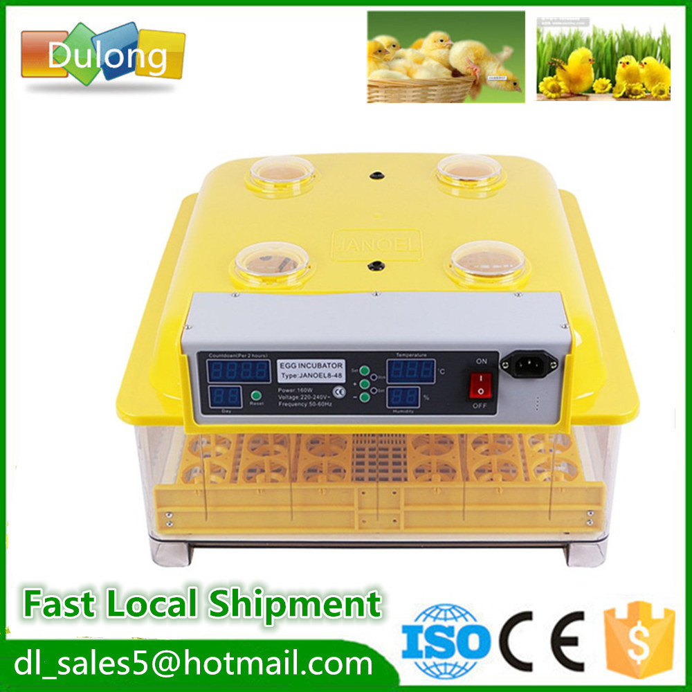 China CE Certificate 48 Automatic Egg Turner 220 Poultry Hatchery Machines Hatching Incubators for Sale small chicken poultry hatchery machines 48 automatic egg incubator 220v hatching for sale