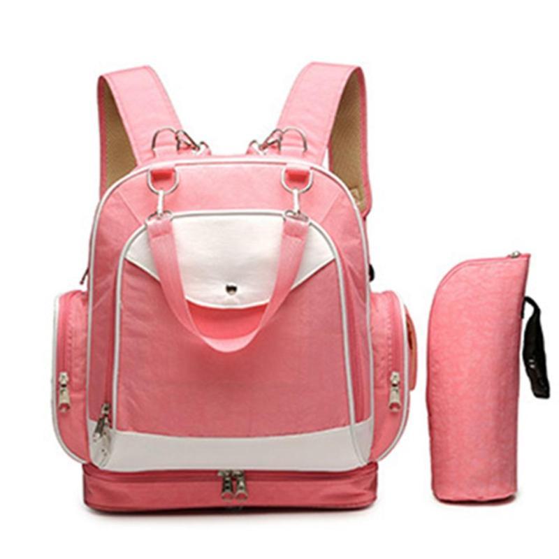 High Quality Canvas Colorful Mommy Diaper Bag Baby Nappy Bags Maternity Mommy Women Backpack/Handbag/Messenger Bags 2pcs/set XV5 kalidi 2pcs set backpack