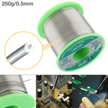 250g 0.5mm-2.0mm 99.7% Sn 0.03% Cu Environmental-friendly Lead-free Rosin Core Solder Wire with Flux and Low Melting Point цена 2017
