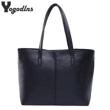 Универсальные модные кожаные сумки простой стиль сумки на плечо для женщин серый/черный большой емкости повседневные сумки высокого качества
