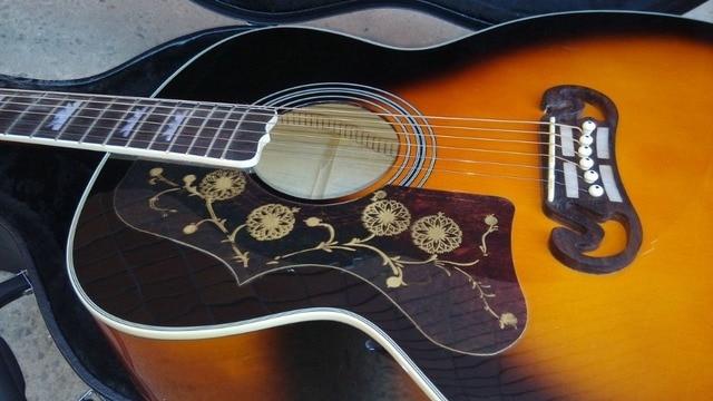 left hand Acoustic Guitar Vintage Sunburst Acoustic Electric Guitar Factory customization 2
