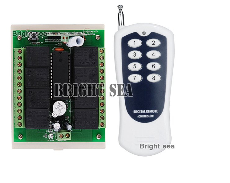 DC 12V 8 CH Channel RF Wireless Remote Control Switch Remote Control System Receiver And