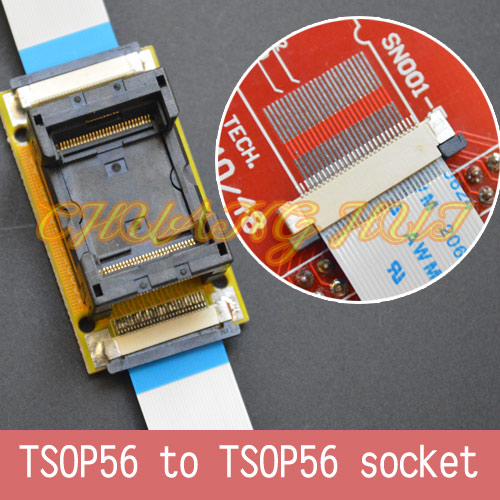 Program Test Original ic354-0562-010 TSOP56 On line test socket SMD welding TSOP56 to TSOP56 test socket Pitch=0.5mm emotions crime and justice