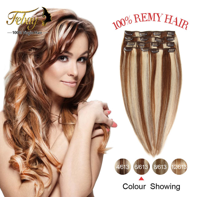 """Clip In Human Hair Extensions 120g 18""""20""""22""""24"""" Full Head Brazilian Virgin Hair Clip In Extensions Human Hair Clip In Extensions"""