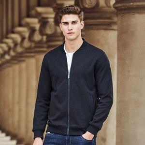 Image 3 - Pioneer Camp warme dicke fleece hoodies männer marke kleidung feste beiläufige zipper sweatshirt männlichen qualität 100% baumwolle schwarz 622215