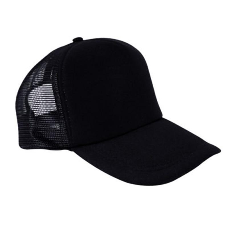 Black   Baseball     Caps   Unisex Simple Casual Trucker Hat Snapback Sports Mesh Sun Hat Dad Summer Adjusetable Outdoor Breathable 2019