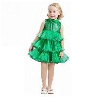 ABWE Mejor Venta Baby Girl Vestidos Sin Mangas de Los Niños Verdes Ropa de Navidad Vestido de Árbol de Navidad y la Bruja de Disfraces de Halloween