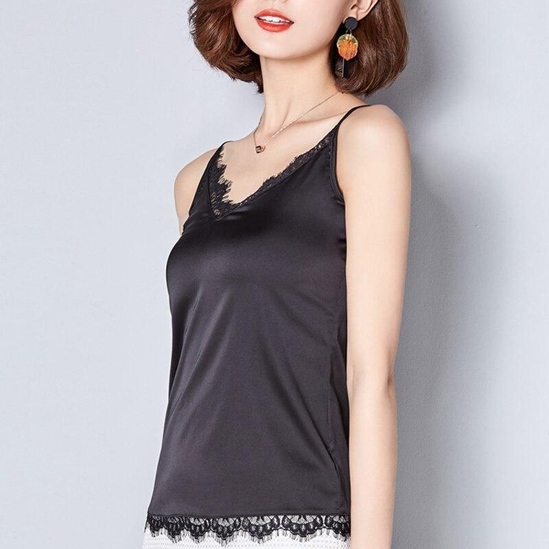 eda5ebd1bdf7 ... Crop Top Clothes Canotta Donna Estiva Tropical Womens Tops 2017 Silk Women  Shirt Camis Sleeveless Lace ...
