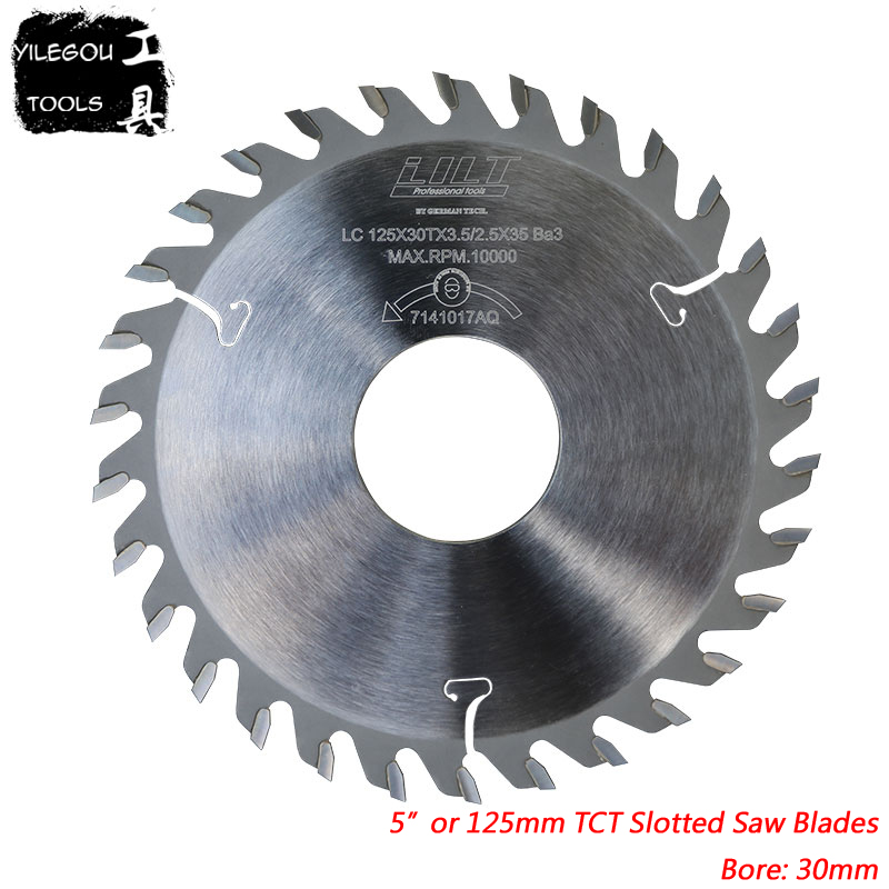 125mmx30mm TCT Slotted Saw Blades 5