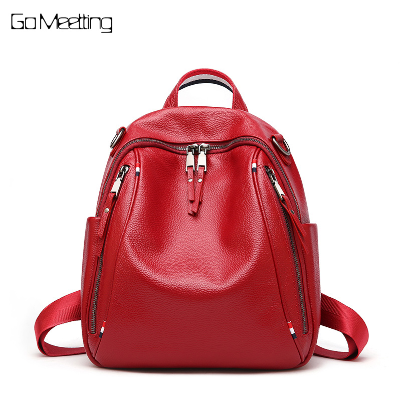 New Arrival Women Backpack 100% Genuine Leather Ladies Travel Bags Preppy Style Schoolbags For Girls Knapsack Holiday Backpacks цена