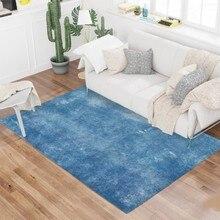 Fashion Living Room Rug Area Solid Carpet Flannel Soft Home Decor Nordic Bedroom Kitchen Floor Mats Tapete