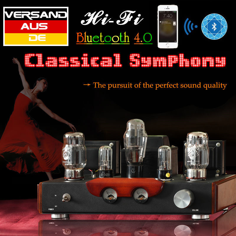 Nobsound Hi-end Bluetooth 4.0 PSVANE KT88 Valve Vacuum Tube Amplifier Single-ended Class A Stereo Power Amplifier 13W * 2 2018 latest nobsound hi end 6n8p push pull psvane kt88 valve tube amplifier hifi stereo class a large power 45w 2 amplifier
