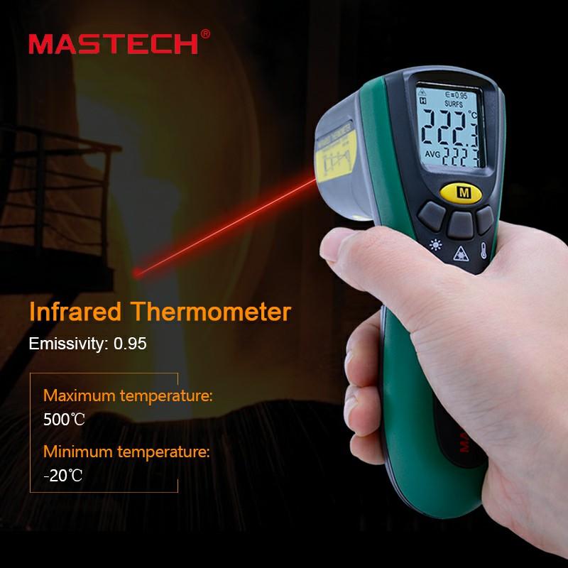 цены Mastech MS6522B Infrared Termometer Portable LCD Digital Thermometer 10:1(D:S) Non-contact Handheld Laser Tester Industrial-tool