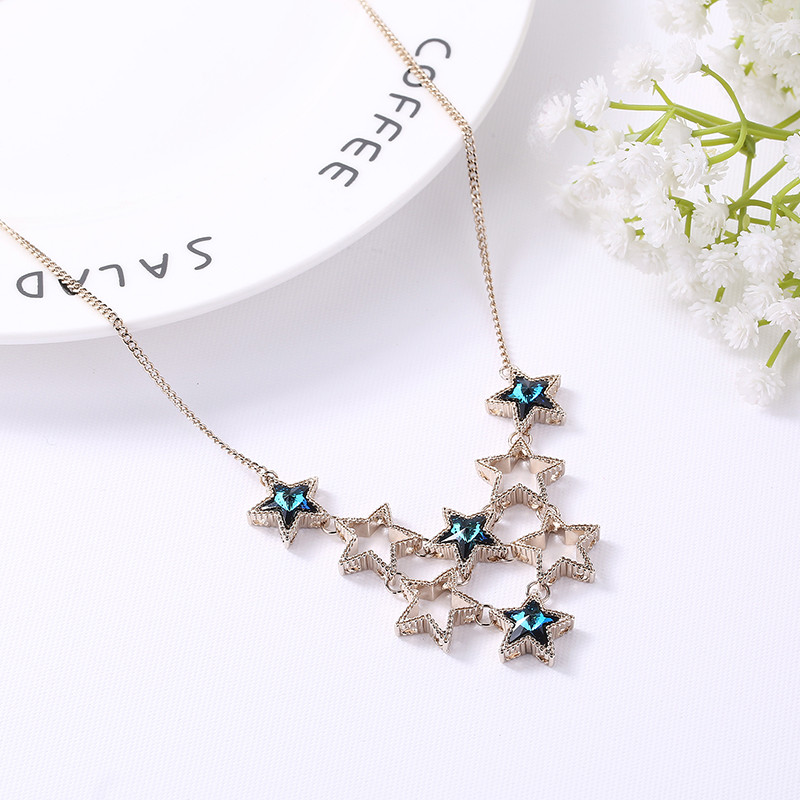 Ms Betti Star pendant Bid necklace with crystal from Swarovski 2018 new arrival bijour for women
