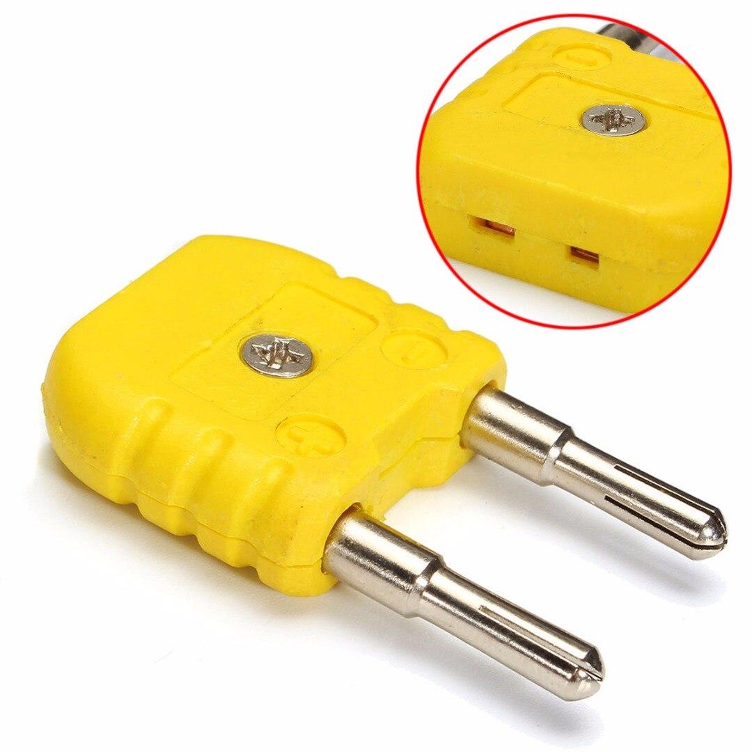 1pc New K-Type Thermocouple Adaptor Mini K Type to Round Banana Thermometer  Plug Multimeter Temperature Measuring Plug