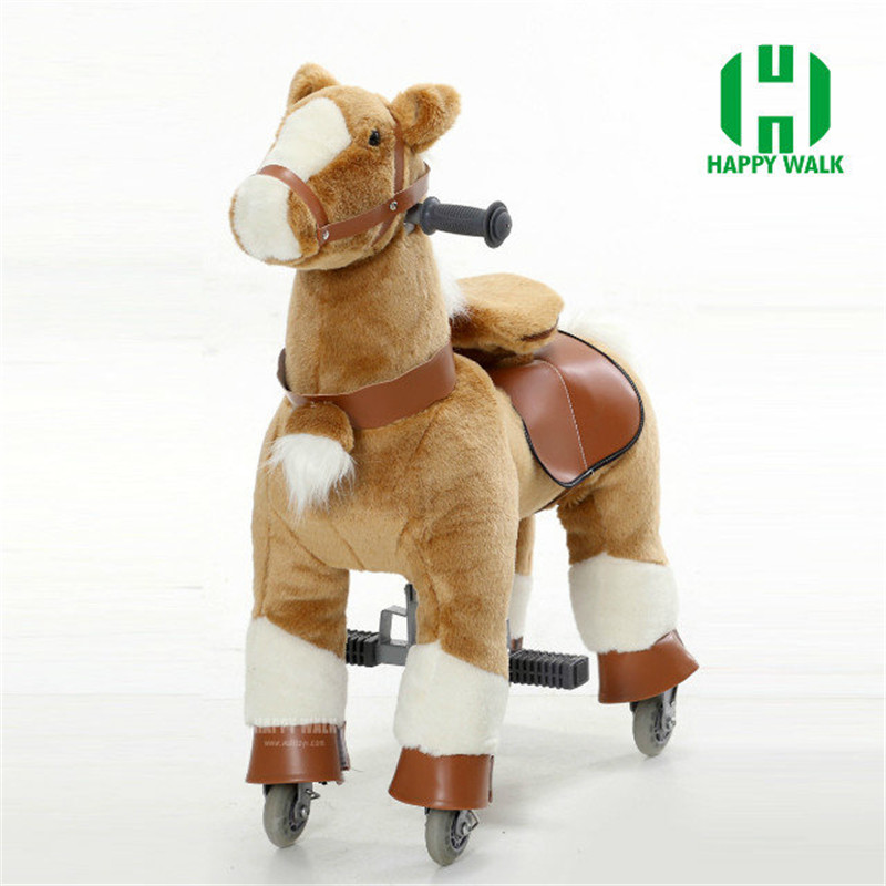 HI CE M Size Riding Pony Horse Walking Ride on Horse Outside Mechanical Ride on Horse for Kids / Adult / Youth Children Gifts hi ce new arrival mechanical horse kawaii animal ride on horse lion rode on horse kids toy for children adult new year gifts