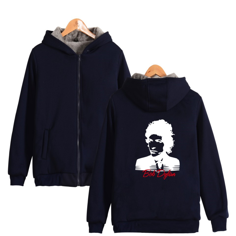 LUCKYFRIDAYF BTS Kpop Bob Dylan Winter Casual Warm Moletom Clothing Zipper Cap Hoodies Thick Sweatshirt Tracksuit For Women/Men