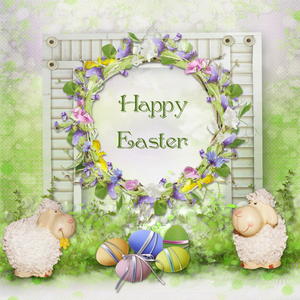 Hot Sale Free Shiping HUAYI Easter Day Backdrop For Photography Easter Eggs Background Spring Scenery Photo Props Studio Back Drop XT-5226