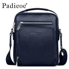 PADIEOE Brand Men Messenger Bag 100 Genuine Leather Casual Crossbody Bag Business Men s Handbag Bags