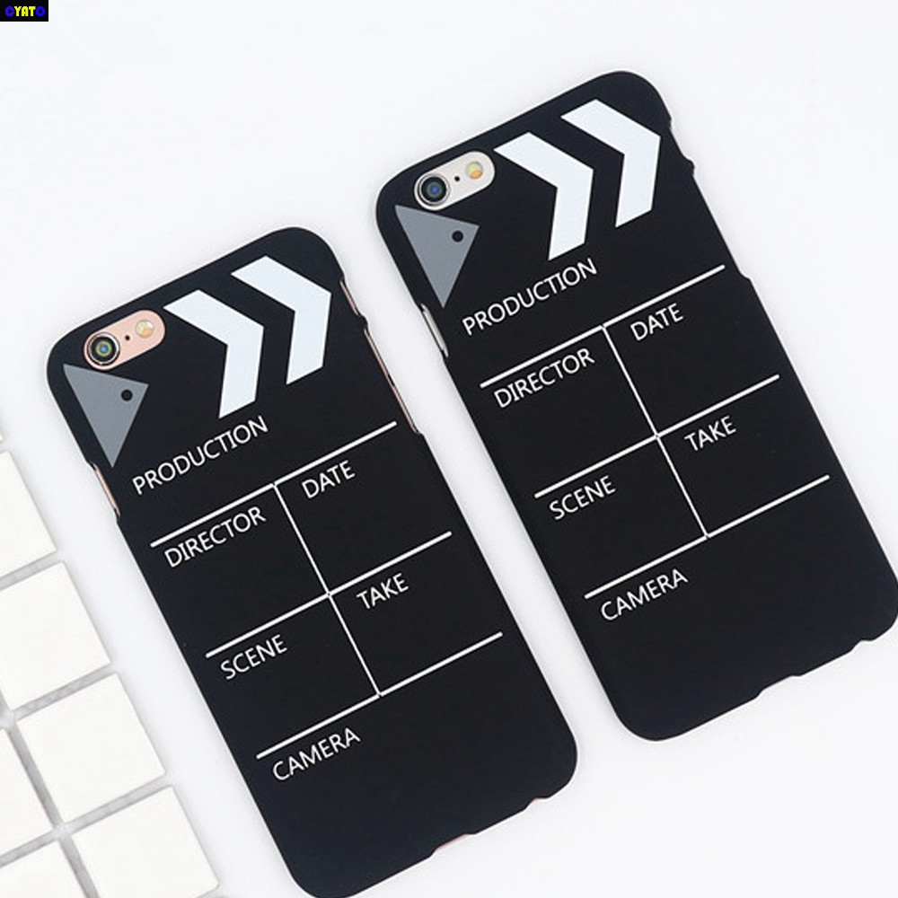 Cyato Fashion Record Board Phone Case For iPhone X Frosted Cute Hard PC Back Cover for 8 7 6S 6 Plus 5S 5C SE Shell