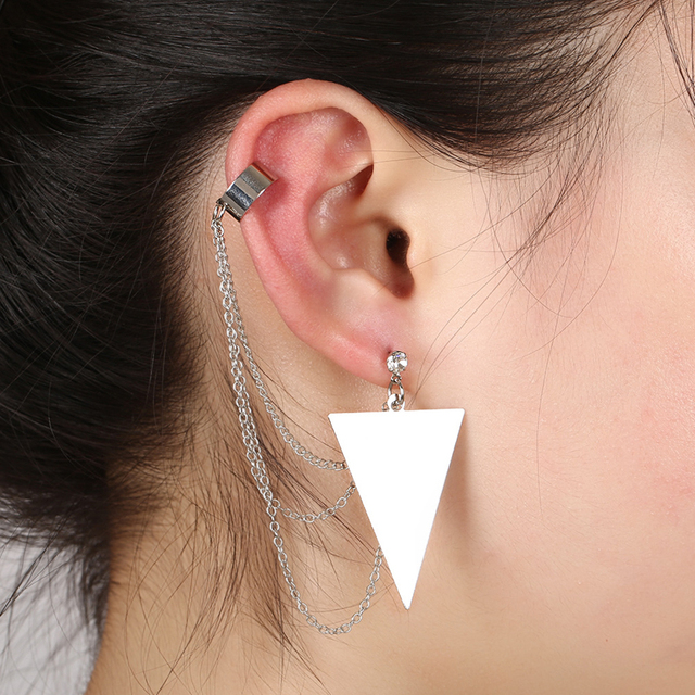 Women's Large Triangle Ear Cuff