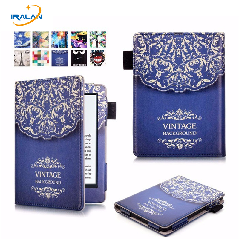 Best sellin Case Cover for Amazon New Kindle 8th generation 2016 6 ebook PU Leather Painted