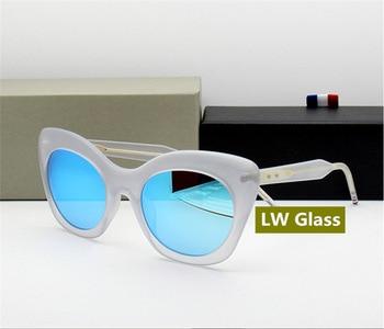 Cateye Sunglasses Women and Men New York Brand Thom Retro Sun Glass TB508 Vintage Sunglass 2018 Fashion White Sunglasses фото