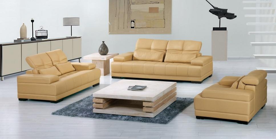 Derīgs dīvāns, augstas kvalitātes ādas dīvāns, 2015, jaunais - Mēbeles