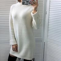 Платье-свитер  Цена: 1266 руб. (19.46$) | 190 заказа(ов)  Купить:     ???? Эта модель представлена в шести цветах и одном размере, у меня белый. Хорошенькое платье свитер, ну или для некоторых удлиненный свитер) Нравятся платья-свитера тепло, красиво и ком