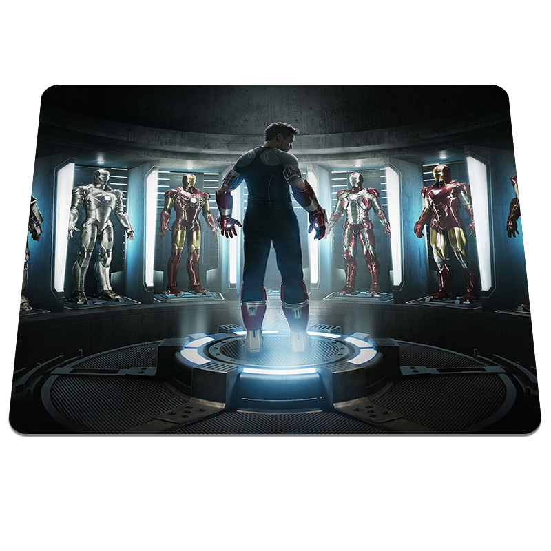 cool iron man print gaming computer laptop netbook pc mouse pad smooth speed up desk mousepad