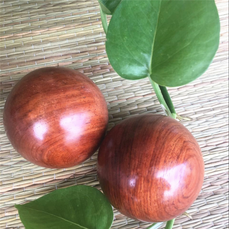 2Pcs Wooden Health Meditation Balls 50mm Hand Finger Exercise Stress Relief Baoding Balls Relaxation Therapy Fitness Handballs