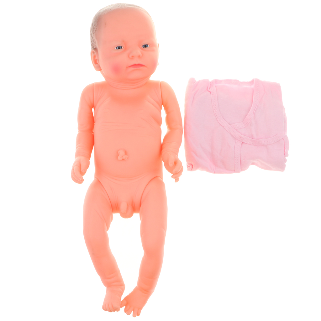 52cm High Simulation Baby Boy Doll Vinyl Infant Boy Doll Dress In Clothes Model for Early EducationActivity Center #C