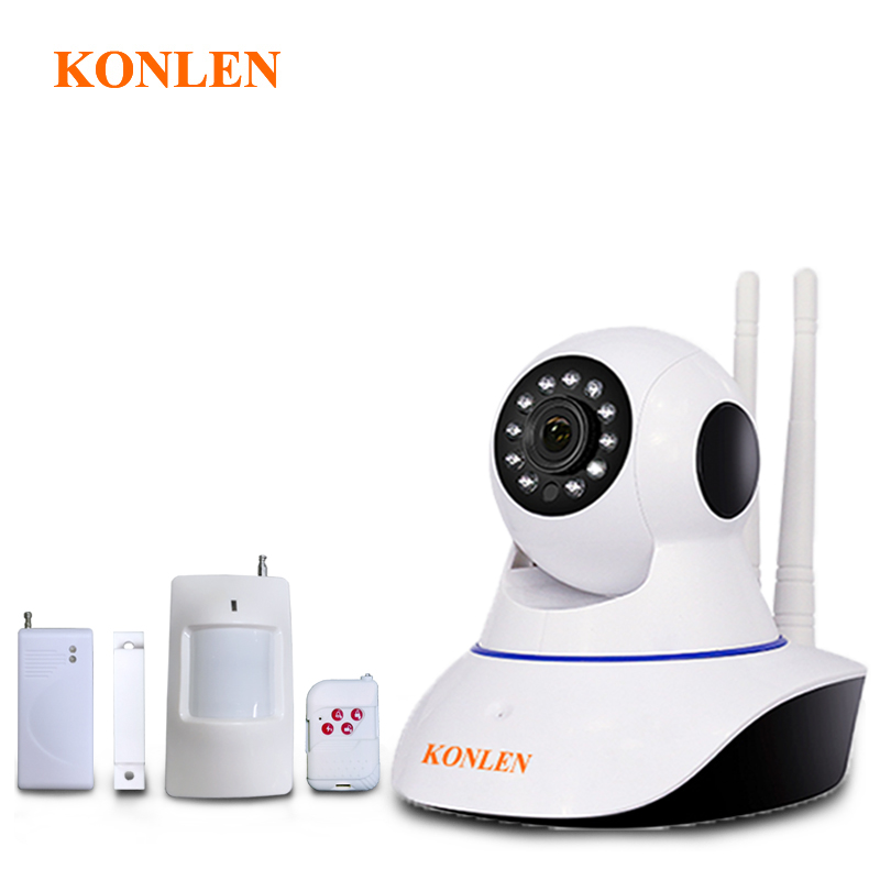 KONLEN WIFI Alarm System with IP Camera Control Panel Wireless for Home Smart House Door Motion