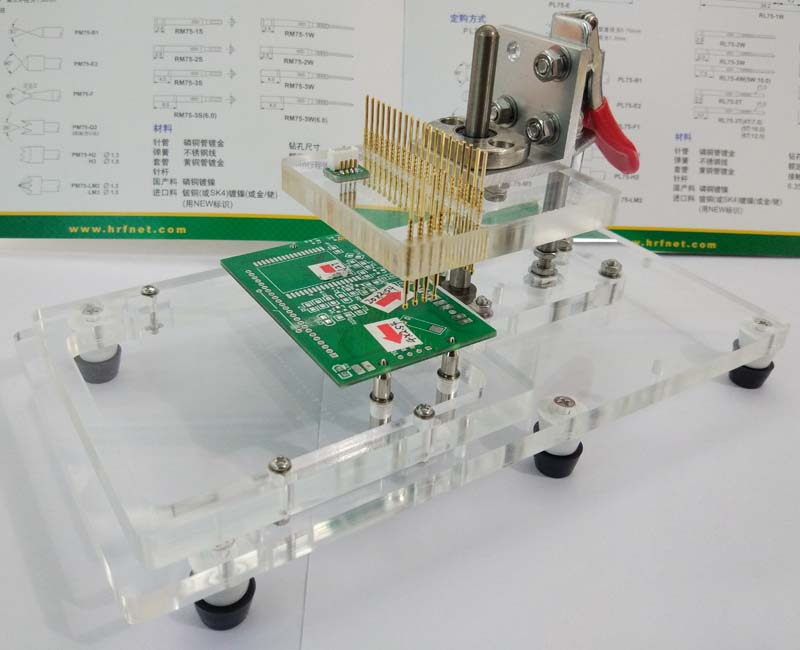 Fast Clamping JTAG for Fixture and Fixture of PCB Terminal Bench Test Stand