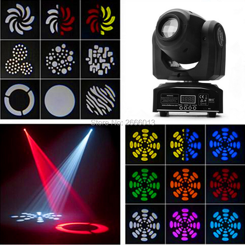 LED 30W spot moving head lights/Party disco dj stage lighting/30W mini gobo projector/DMX stage effect light/LED pattern lamps high quality mini 10w led spot moving head 7 gobo stage light disco dj dmx512 rgbw stage effect projector stereotypes packaged