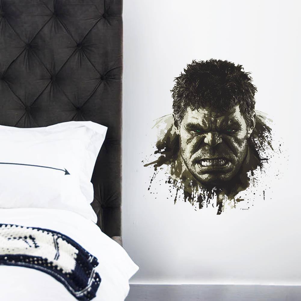 HTB1NK3 JFXXXXa8XFXXq6xXFXXXl - Superheroes Comic Avengers The Incredible HULK Wall Sticker For Kids Room
