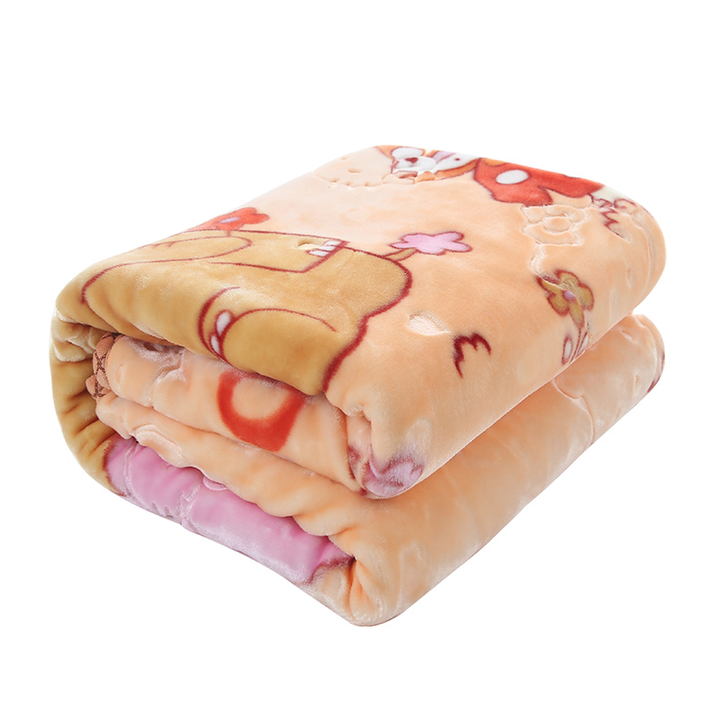 Autumn Winter Double-deck Thick Warm Baby Blanket Cute Cartoon Bear Newborn Baby Swaddle Wraps Children Cloud Blanket Kids Quilt free shipping infant children cartoon thick coral cashmere blankets baby nap blanket baby quilt size is 110 135 cm t01 page 8