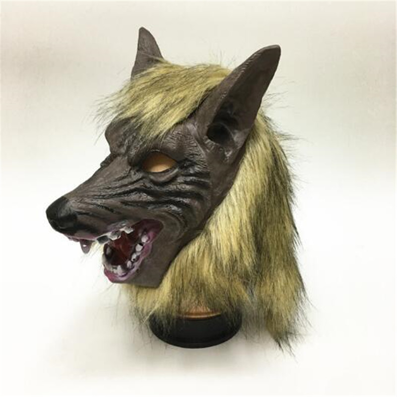 Halloween Christmas Party Mask Horror devil Masquerade Prop mask Full set Wolf headgear High Quality