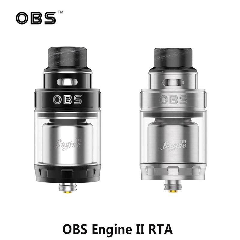 Original OBS Engine 2 II RTA Tank 5ml Top Airflow Dual Coil RTA Vape Tank 26mm Electronic Cigarette Atomizer Rebuildable Tank