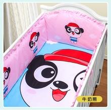 Promotion 5PCS 100 cotton baby bedding sets crib bedding sets for crib set 4bumper sheet
