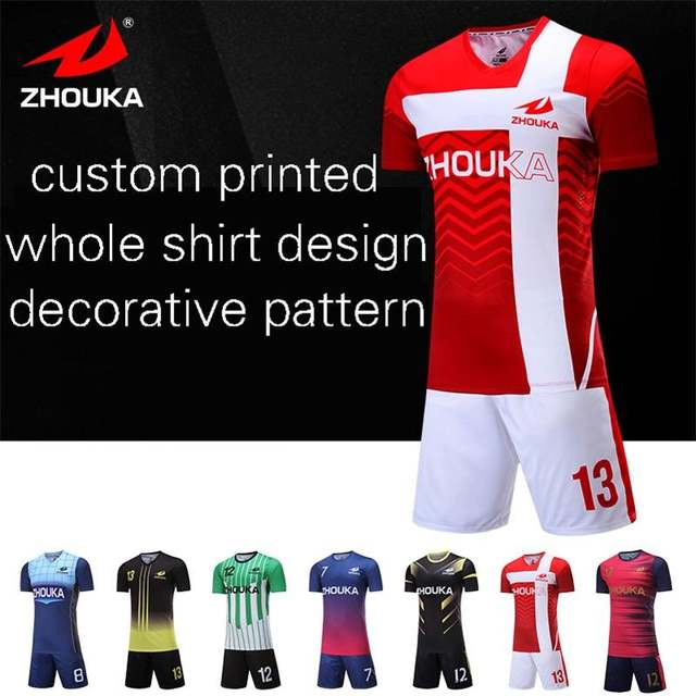 ff395d12e Online Shop Full sublimation custom soccer jersey custom any style print  any color logo name thailand football shirt delivery time 7 day