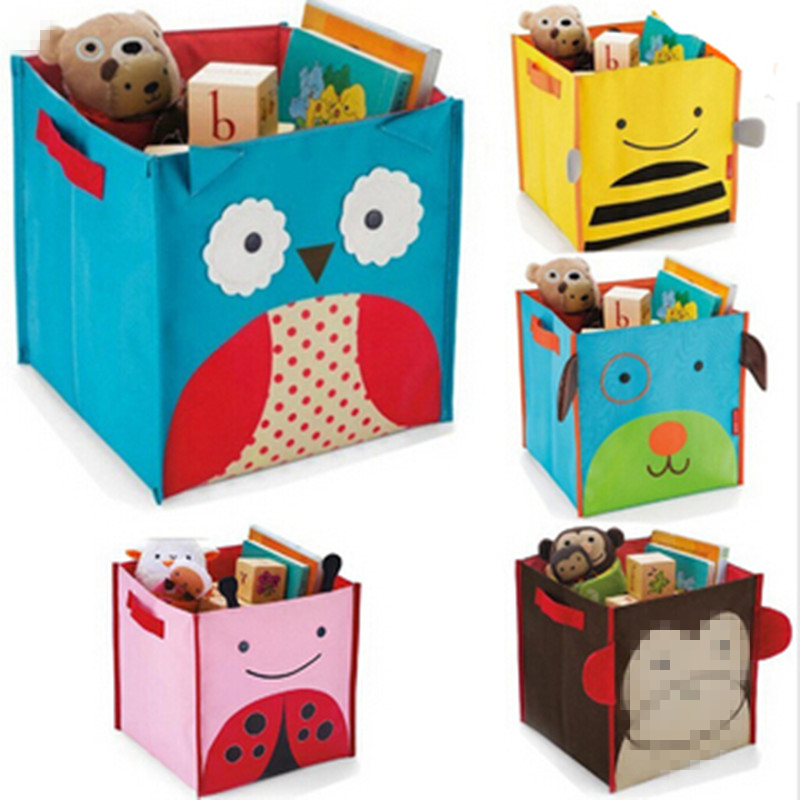 Toys Box Home Decor Clothes Basket Home Storage Organization Children's cartoon pattern Non-Woven Fabric storage box
