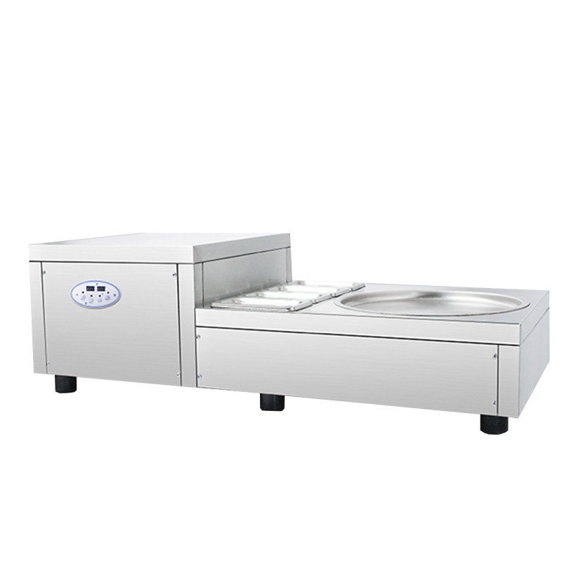 BEIJAMEI 2018 Table Model Single Round Pan Rolled Fried Ice Cream Machine Commercial Fried Frying Yogurt Ice Making