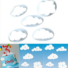 TTLIFE 5pcs Fondant Cutter Cloud Plastic Cake/Cookie/Buscuit Ffondant Mold Cake Decorating Tools Chocolate 2019 New